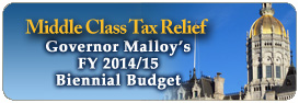 Middle Class Tax Relief Governor Malloy's FY 20014/15 Biennial Budget